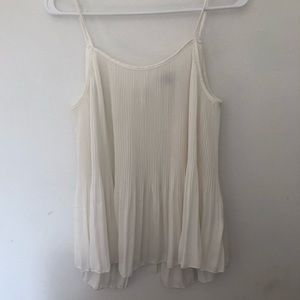 Charlotte Russe Sheer White Flowy Top